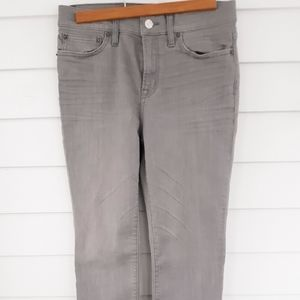 J Crew Gray Lookout High Rise Skinny Jeans Size 27